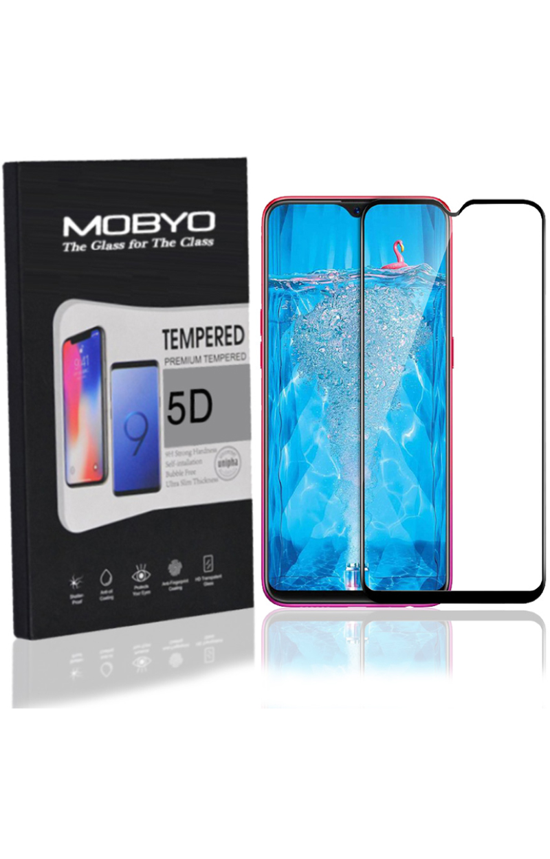 MOBYO Oppo F9 Pro Tempered Glass 5D Edge to Edge Full Cover