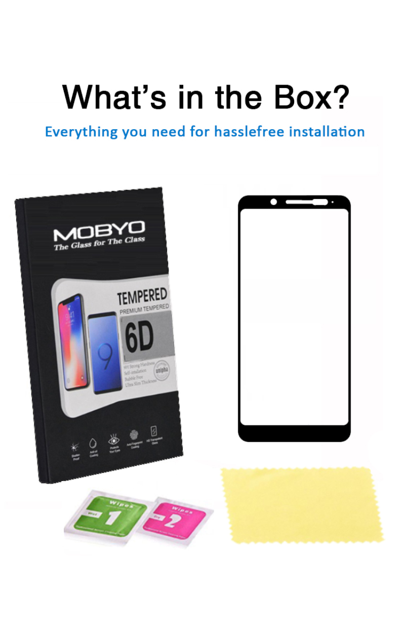 xiaomi note 5 pro tempered glass 6d full glue 9h hardness packaging